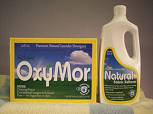 All natural laundry detergent and fabric softener